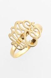 Women's Jane Basch Designs Personalized Script Monogram Ring