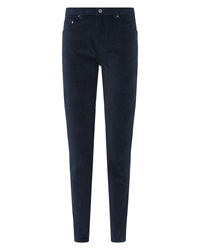 Jaeger Cordruroy Skinny Trousers Midnight Blue