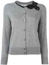 Marc Jacobs Sequinned Bow Cardigan Grey