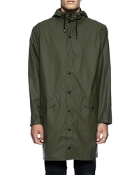 Rains Green Hooded Waterproof Jacket