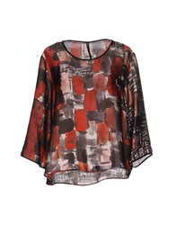 Manila Grace Blouses Red