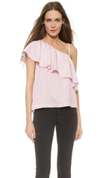 Rodebjer Wep One Shoulder Top Frosty Pink