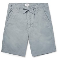 Hartford Slim Fit Drawstring Cotton Shorts Green