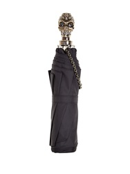 Alexander Mcqueen Embellished Skull Handle Collapsible Umbrella