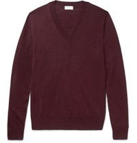 Dries Van Noten Cotton Sweater Burgundy