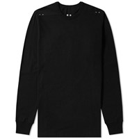 Rick Owens Long Sleeve Riveted Level Tee Black