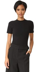 Dkny Short Sleeve Crew Neck Bodysuit Black