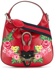 Gucci Dionysus Hobo Tote Leather Polyester Red