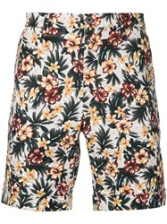 Loveless Floral Print Shorts Men Cotton Linen Flax 0