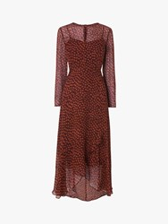 Lk Bennett L.K.Bennett Beya Spotted Dress Burgundy