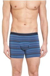 Nordstrom Men's Shop Pouch Briefs Blue Tonal Multi Stripe