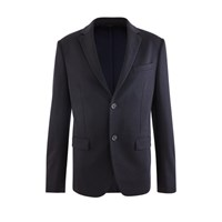 Fendi Ff Blazer With Collar Detail Dark Blu