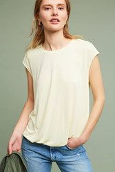 Anthropologie Bubbled Shell Top Yellow