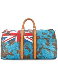 Jay Ahr Fiji Flag Vintage Louis Vuitton Keepall Brown