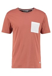 Only And Sons Onsdrew Print Tshirt Copper Brown