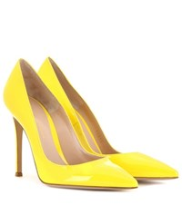 Gianvito Rossi Patent Leather Pumps Yellow