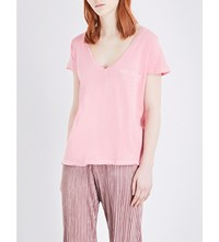 Wildfox Couture Bottoms Up Cotton T Shirt Peach Crush