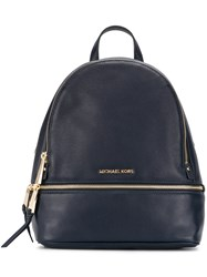 Michael Michael Kors Zipped Backpack Leather Blue