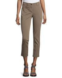 Brunello Cucinelli Cropped Jean Pants Taupe
