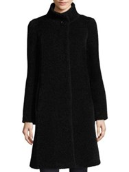 Cinzia Rocca Single Button Swing Car Coat Black