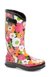 Women's Bogs 'Spring Flowers' Graphic Print Waterproof Rain Boot Black Multi