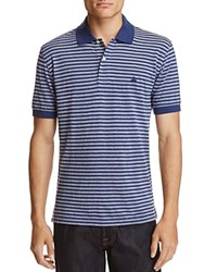 Brooks Brothers Oxford Stripe Classic Fit Polo Shirt Navy