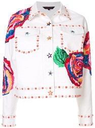Manish Arora Embellished Denim Jacket White