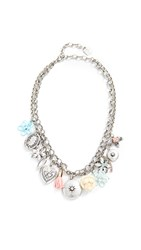 Dannijo Amabella Charm Necklace Gold Multi