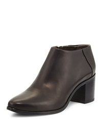 Zig Leather Ankle Boot Black Coclico