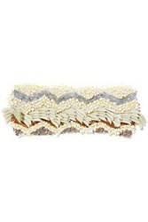 Missoni Embellished Crochet Knit Headband Cream