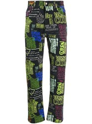 Versace Jeans Couture Printed Detail Jeans Black