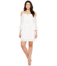 Lilly Pulitzer Alanna Dress Resort White Marine Tropic Lace Women's Dress