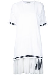 Each X Other Pleated Dress White