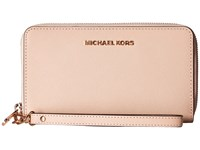 Michael Michael Kors Jet Set Travel Large Flat Mf Phone Case Oyster Cell Phone Case Beige