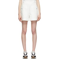 Edit White Twill Full Shorts