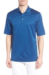 Bugatchi Men's Two Tone Polo Night Blue