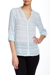 T Tahari Colton Blouse Blue