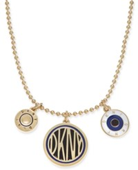 Dkny Gold Tone Triple Pendant Necklace 33 3 Extender Created For Macy's Multi