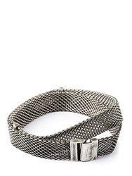 Title Of Work Wide Mesh Wrap Bracelet