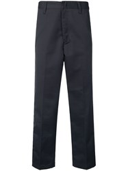 Edwin Cropped Tailored Trousers Grey