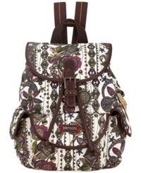 Sakroots Artist Circle Small Flap Backpack Ivory Spirit Desert