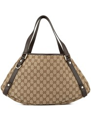 Gucci Vintage Gg Pattern Shoulder Bag Brown