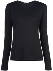 Adam By Adam Lippes Round Neck Long Sleeved Top Black