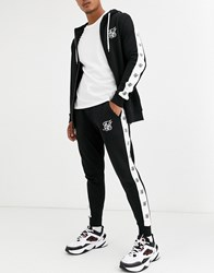 Sik Silk Siksilk Skinny Joggers With Side Logo In Black