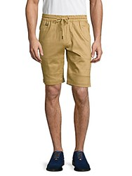 Publish Textured Cotton Blend Shorts Khaki