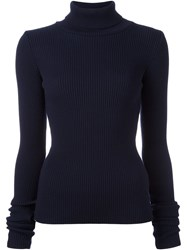 Jacquemus Ribbed Jumper Blue