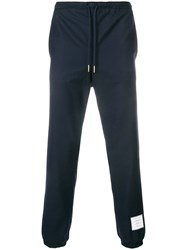Thom Browne Super 120S Twill Track Trouser Blue