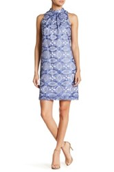 Erin Fetherston Chanson Embroidered Sleeveless Dress Blue