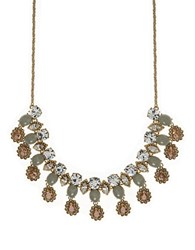 Marchesa Goldtone Frontal Necklace Multi