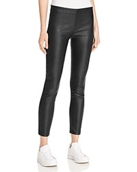 Aqua Faux Leather Ankle Leggings Black